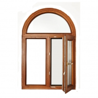 Buy cheap Aluminum Fireproofing Arched Tilt And Turn Windows Swing Open Wood Grain Frame product