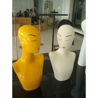 China Female necklace mannequin with make up on sale