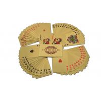 China Valuable Collection Gold Playing Cards Various Logo With Plastic Playing Cards on sale