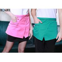 Buy cheap Restaurant Custom Cooking Aprons With Pockets , Front Slit Cute Waitress Aprons product