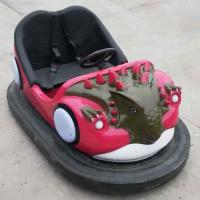 China Dinosaur Bumper Cars Ride Seamless FRP Body Soft Backrest Stereo Music on sale