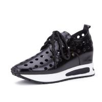 Quality Fashion Casual Height Increasing Shoes Hollow Elevator Sneakers Lace up for for sale