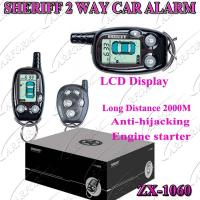 China 2 Way Paging Car Alarm with Auto Alarms Systems / FM 2000M  LCD Remote Controller ZX-106 on sale