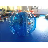 Durable Outdoor Inflatable Toys , Blue Inflatable Hamster Bumper Ball