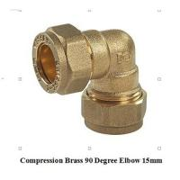 Buy cheap compression fitting elbow 15mm for copper pipe product