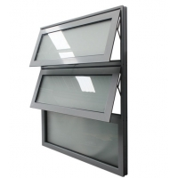 Buy cheap Silver Anodized Frame Aluminum Awning Windows Horizontal Tilt And Swing product
