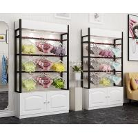 Buy cheap Colorful Underwear Clothing Display Racks With Cabinet 1200*400*2000mm product