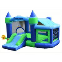 Buy cheap Backyard Inflatable Bouncer Combo / 0.55mm PVC Bouncy Castle For Kids product