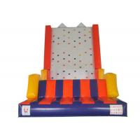 China Outdoor Games Inflatable Rock Climbing Wall 0.55mm PVC Tarpaulins Waterproof on sale
