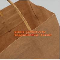Buy cheap Promotional paper bag in fancy paper and foil logo, Fashion gift paper bag with ribbon handle, Special handle design pap product