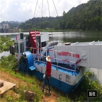 Buy cheap 12.5m Length 6500m3 Aquatic Weed Harvester Paddle Wheel Drive product