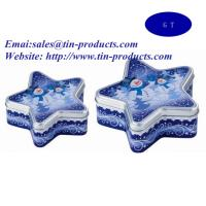 Buy cheap Star-Tin Box , Metal Gift Box  ,Packaging Box , Gift Packaging Box , Tin Gift set from China wholesale from Golden Tin product