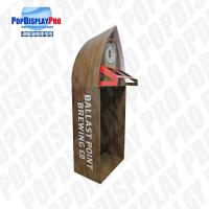Buy cheap Visual Merchandising Custom Cardboard Shelf Display PVC Clear Window For Beverage Drinks product