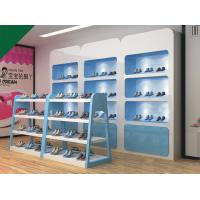 Buy cheap Lovely Blue Color Children Shoe Display Shelves Shoes Fixtures For Retail Stores product
