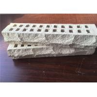 Special Mountain Shape White Perforated Clay Bricks High Strength For Long Life