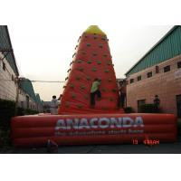 China Customized Inflatable Sports Games Plastic Kids Rock Climbing Wall EN71 on sale