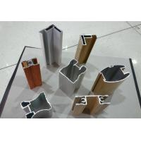 Buy cheap Wood Finished Aluminium Door Profiles Strength Hardness Wear Resistance product