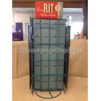 China Metal Hair Color Tinned Dye Accessories Display Stand Double Sided Custom Signage on sale