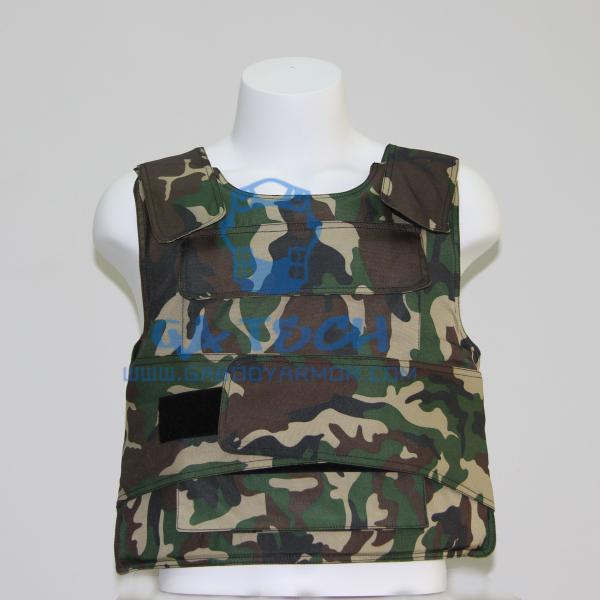 Quality olive green camouflage kevlar bulletproof vest body armor for sale