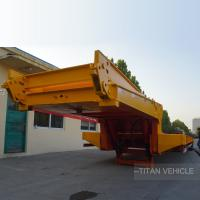 Buy cheap 3 Axle 4 Axle Folding Goose Neck Low Bed Trailer with 80 ton 100 ton Capacity product