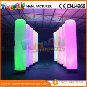 China Christmas Party / Wedding Inflatable LED Lighting Pillar 1 Year Warranty on sale