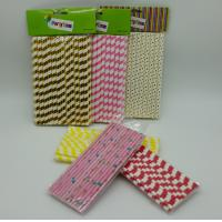 Buy cheap Compostable Coloured Paper Straws Thick Sturdy Engagement Housewarming Party product