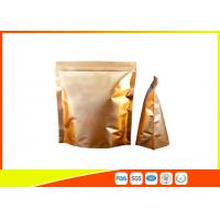 Buy cheap Custom Gold Coffee Bean Packaging , Stand Up Packaging Pouch Bag With Valve product