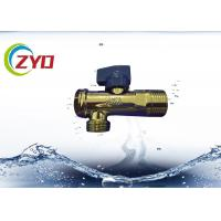 Buy cheap Low Pressure Plumbing Angle Valve , Iron / Brass Triangle Valve S.S Filter Net product