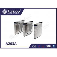 Buy cheap Acrylic Access Control Turnstile Gate , Flap Barrier Gate With Biometric Card Reader product