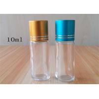 Buy cheap Rainbow Blue Green Glass Roller Bottles Pilfer - Proof Thick Glass Body product