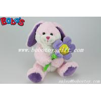 Buy cheap Pink Bunny Stuffed Animal With Sun Flower As Valentine gifts product