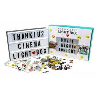 China Vintage Cinematic Acrylic LED Light Box Message Board With Letters Note Sign on sale