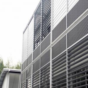 Buy cheap Horizontal PVDF Aluminum Sun Shade Louvers Adjustable Energy Efficient product
