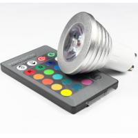 Buy cheap 3W RGB LED COB Spotlights bulbs RGB led remote controller lathe aluminum housing GU10 E27 product