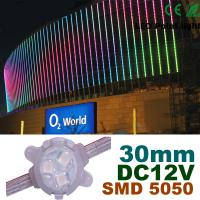 China 30mm DC12V RGB LED Pixel Module Full Color For Building Decoration wholesale