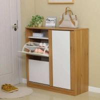 Buy cheap Durable Pine Wooden Shoe Cabinet / Wear Resistant Colored Paulownia Shoe Cabinet product