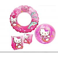 Buy cheap Hello Kitty Inflatable Pool Ring Floats Heavy Duty Viny Material 3 Piece Toy Set product