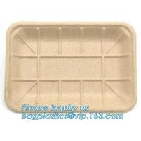 Buy cheap corn starch plastic round food tray food tray with lid Biodegradable Plastic Meal Prep Tray bio disposable corn starch product