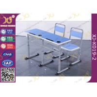 Buy cheap Attached Plywood Double School Desk And Chair For College Classroom from wholesalers