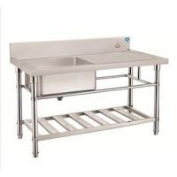 Buy cheap Kitchenware Stainless Steel Single Rinse Table Single Sink Washing outdoor sink Table product