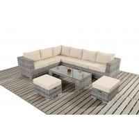 PE Wicker Rattan Dining Sofa / Chair, Outdoor Sectional Sofa Set, Rattan Garden Furniture,