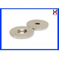 China NdFeB Countersunk Rare Earth Magnets Neodymium Magnet With One Hole / Two Holes on sale