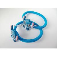 Buy cheap Custom lovely blue cute hair bands with rabbits dogs animal shape flexible hair bands for children little baby product