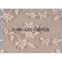 Buy cheap Ivory Floral Lace Power Mesh Fabric for Dress , Nylon Spandex Net Fabric product