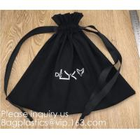Buy cheap 100% Cotton Canvas Favor Bag Pouch with Drawstring,Cotton Breathable Dust-Proof Drawstring Storage Pouch Multi-Functiona product