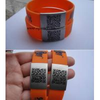 Buy cheap Factory produce medical alert bracelet,Custom size silicone ID Wrist with engraved logo product