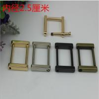 Buy cheap Customized zinc alloy gunmetal color 25 mm metal square ring buckle for bags product