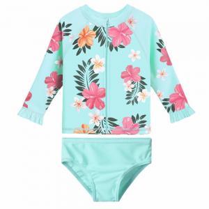 Buy cheap Recycled Polyamide Toddler Girl Bathing Suits / Rashguard Set UPF50+ Baby Bathing Suit product