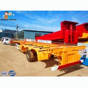 China Flatbed 13T FUWA Axle Twistlock Container Semi Trailer on sale