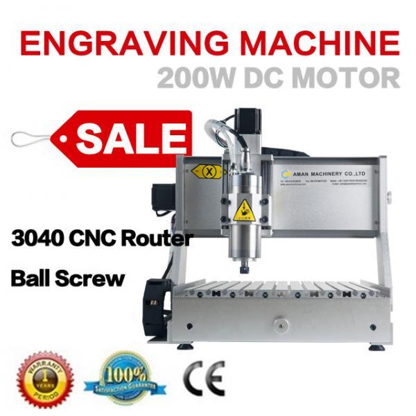 Quality AMAN mini cnc copper router mini desktop 4th axis 3040t-dj cnc engraving machine cnc router for sale